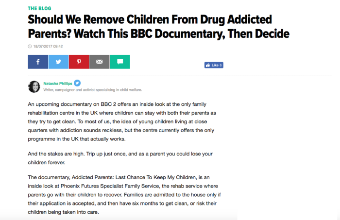 Drugs and Families