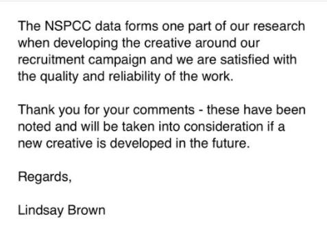 NSPCC Response