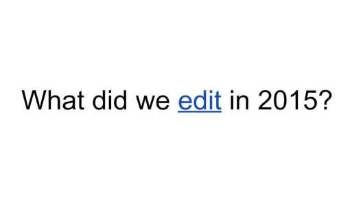Edit 2015